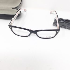 4cea8368a7 Ray-Ban Accessories - Ray Ban RX5228 5014 Shiny Black White 50mm glasses